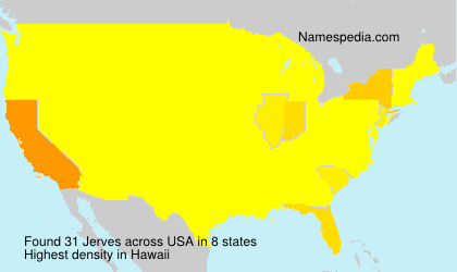 Surname Jerves in USA