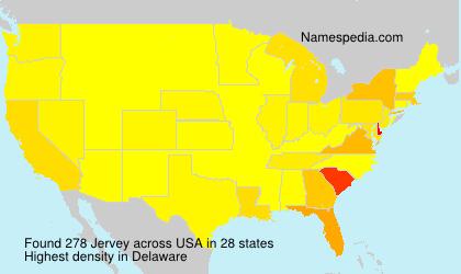 Surname Jervey in USA