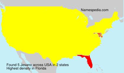 Surname Jesano in USA
