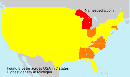 Surname Jesie in USA