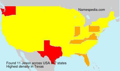 Surname Jeson in USA