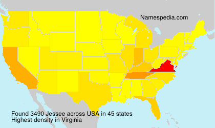 Surname Jessee in USA