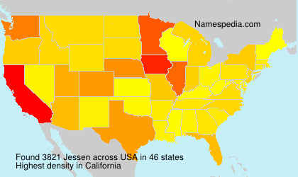 Surname Jessen in USA
