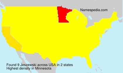 Surname Jeszewski in USA