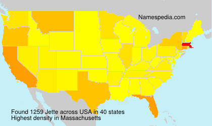 Surname Jette in USA