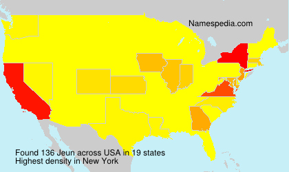 Surname Jeun in USA