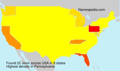 Surname Jevin in USA