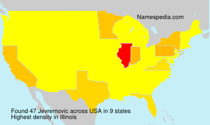 Surname Jevremovic in USA