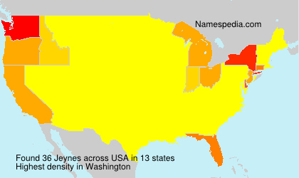 Surname Jeynes in USA