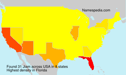 Surname Jiam in USA