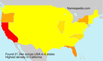 Surname Jiler in USA