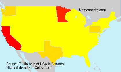 Surname Jillo in USA