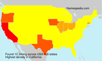 Surname Jiming in USA