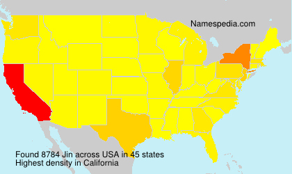 Surname Jin in USA