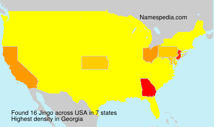 Surname Jingo in USA