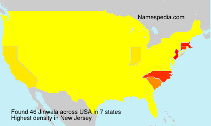 Surname Jinwala in USA