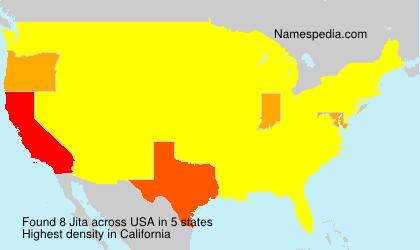 Familiennamen Jita - USA