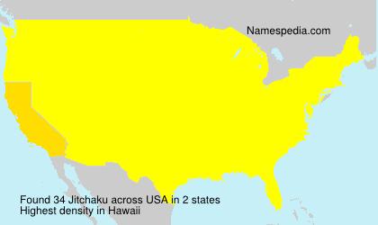 Surname Jitchaku in USA