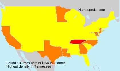 Surname Jmes in USA