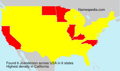 Surname Joanderson in USA
