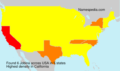 Familiennamen Jobina - USA