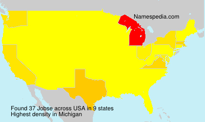 Familiennamen Jobse - USA