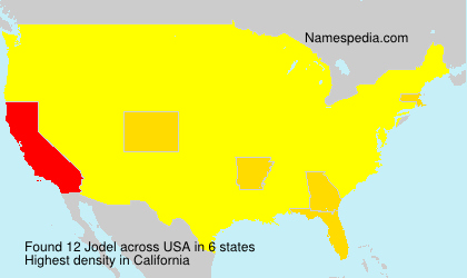 Surname Jodel in USA