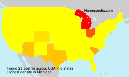 Surname Joehlin in USA