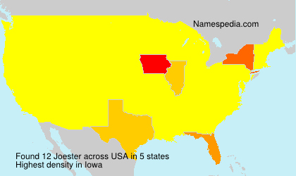 Surname Joester in USA