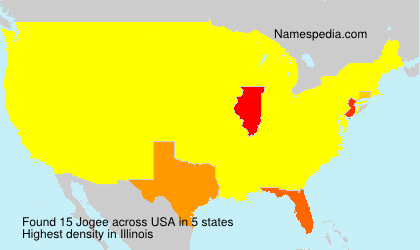 Surname Jogee in USA