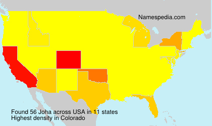 Surname Joha in USA