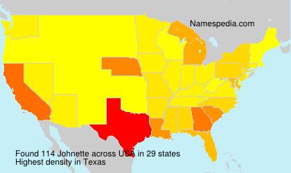 Surname Johnette in USA