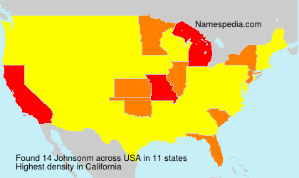 Surname Johnsonm in USA