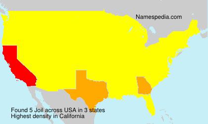 Familiennamen Joil - USA