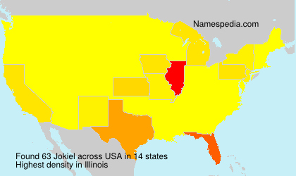 Surname Jokiel in USA