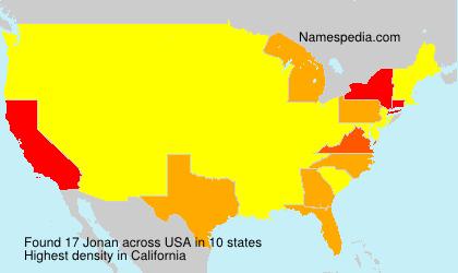 Surname Jonan in USA