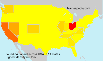 Surname Jonard in USA