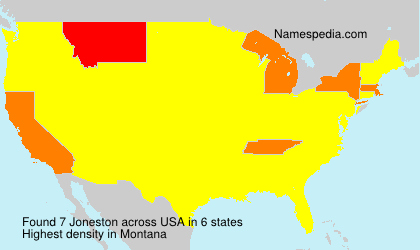Surname Joneston in USA