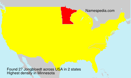 Surname Jongbloedt in USA