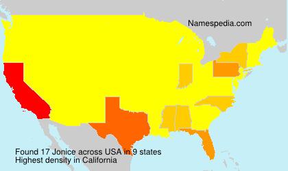 Familiennamen Jonice - USA