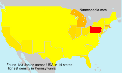 Surname Joniec in USA
