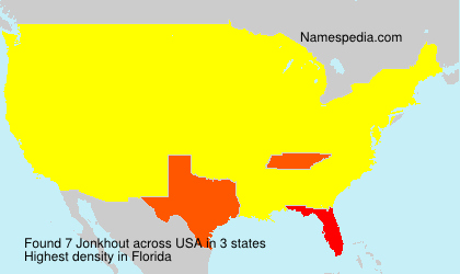 Surname Jonkhout in USA