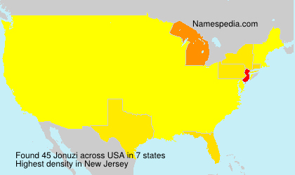 Surname Jonuzi in USA