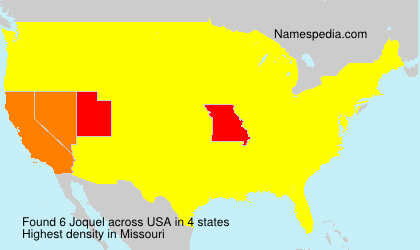 Surname Joquel in USA