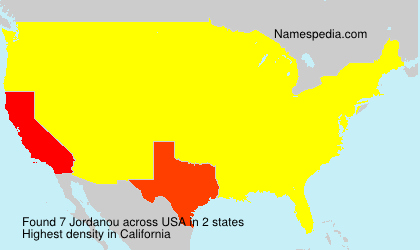 Surname Jordanou in USA