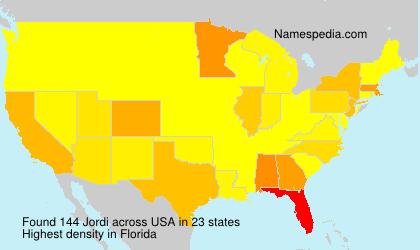 Surname Jordi in USA