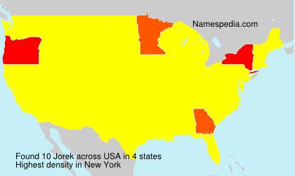Surname Jorek in USA