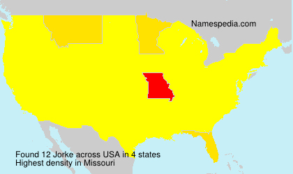 Familiennamen Jorke - USA