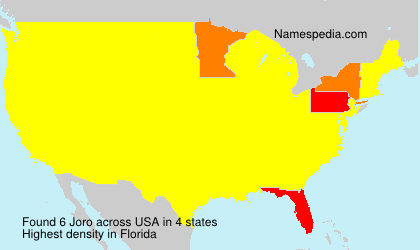 Surname Joro in USA