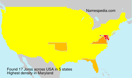 Surname Jorss in USA